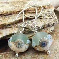 Round Sea Spray Glass Earrings |Julie Fountain